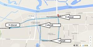 Trasa procesji Boze Cialo 2014